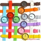 factory price Candy Color Colorful Jelly sports Quartz fashion Wrist Watch Woman Men