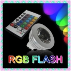 Wholesale - 3W 16 Color Change RGB Spotlight Charming with remoted IR controller 85-255V 2years warranty DHL/EMS