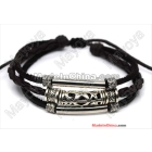costume jewelry 100% real leather!fashion geniune leather handmade leather bracelet/fashion handmade leather bracelets L0070