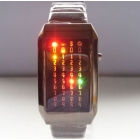 F03716-I Digital 72 LED Light Lover's Meteor Shower Wrist Watch for Men Women +Gift Case