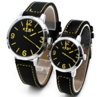 F03488 Fashion Quartz Leather Bracelet Wrist Watch Men Women EYKI 8431