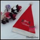 Free Shipping Lovely Embroidery Christmas Hat, Santa hats, Xmas Gifts ornaments Wholesale 12pcs/lot
