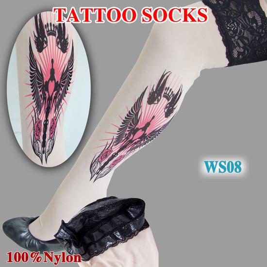 Ladies tattoo stockings sexy leggings tattoo wholesale for Minimize tattoo pain