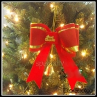 50pcs/lot Newest cheap Christmas Bow Tie, 20cm Christmas Bow Knot Xmas decorations FREE SHIPPING