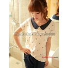 Free Shipping 2012 New Fashion Women Lady Girl College Wind navy anchor T shirt s257