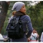 In the fall of 2011 the latest han edition smoke with leather female backpack shoulders 100% head layer cowhide