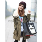 Free shipping 2011 naval wind of autumn winter coat lapel lamb plush thick cotton-padded clothes coat 0591