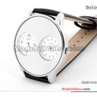 Free shipping berze South Korea watch BeiJie male table business leisure man watch double dial belt