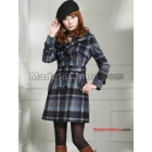 Free shipping 2011 new female qiu dong han edition cultivate one's morality NeDaYi wool coat S1 from the grid
