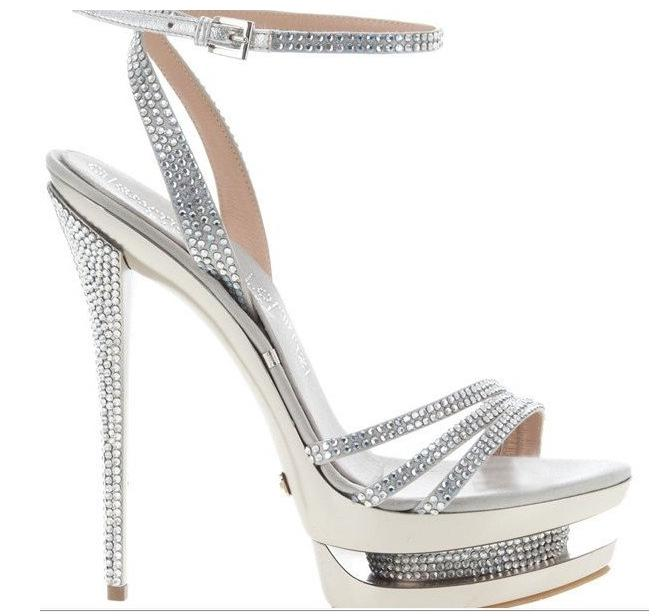 silver   Wholesale Free shipping, sexy models high heels double waterproof silver hot drilling sandals,high heels wedding shoes on ShopMadeInChina.com