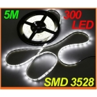 Dropshipping 12V 5M/Roll (5M/lot) IP65 Waterproof Epoxy SMD 3528 LED Strip Light with 300 SMD LED Flexible led Strip Free Shipping