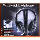 5 in 1 HIFI Wireless headphone Earphone Headset wireless Monitor FM radio for MP4 PC TV audio,free shipping