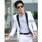 Autumn outfit coat man contrast color han small suit white cultivate one's morality leisure suit dress increase a suit