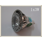 50x Free Shipping, LED Spotlight with 1x3W Epistar LEDs, MR11 GU5.3,  Warm White or Cool White , AC/DC12V, CE&Rohs