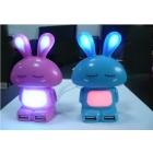 Cute Gleamy Rabbit USB 2.0 HUB, High Speed 4 Port USB Hub with LED Light Shape USB 2.0 HUB 50pcs/lot