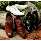 free shipping brand new Fashionable men's pointed leather shoes business shoes size 39 40 41 42 43 44