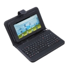 free shipping leather case with keyboard for tablet pc