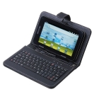 Promotion-DHLEMS free shipping- leather case with keyboard for tablet pc 5pcs/lot