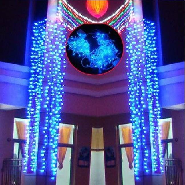 wholesale 7 color led christmas lights garden decoration lights led christmas lights 10 meter - Blue And White Led Christmas Lights