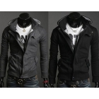 Multi Zipper Jacket Mens Jackets and Coats Men Winter Jacket Multiple Neckline Jacket