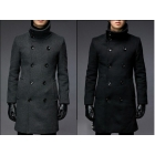 Mens Jackets and Coats High Collar Jacket Men Winter Long Coat