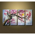 Wholesale - Framed Large Modern Art Cherry Blossom Flowers Oil Painting On Canvas Php663