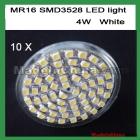 free shipping 10pcs/lot 110V MR16 4W SMD 60 LED White LED BULB led lightiing led bulb lamp