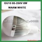 10pcs/lot Free Shipping !6w GU10 160LM high power led lamp 85V-250V warm  led lightiing led bulb lamp