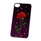 Fantastic 3D Rose Protective Hard Back Case Cover Skin for phone 5pcs/lot Free Shipping+Drop Shipping