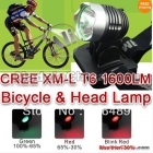 1600Lm CREE XM-L XML  LED bicycle light Headlamp Rechargeable Headlight 18650 SET Charger  2