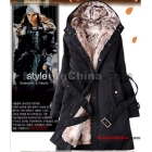 Free Shipping fur lining women's fur coats winter warm long coat jacket clothes wholesale >049