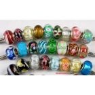 Free shipping! Big hole murano glass beads , european charm beads fit bracelet necklace , 120pcs/ lot , mixed styles