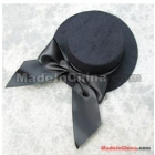 FREE SHIPPING Mini party plain Lady top hat hair clips DIY Fascinator BLACK wholesale