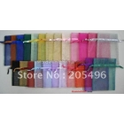 Organza Drawstring Pouch Gift bags, 10x15cm , mixed colors, wedding favor candy bag , free shipping wholesale