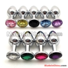 Stainless Steel Attractive Butt Plug Jewelry / Jeweled Anal Plug / Rosebud Anal Jewelry