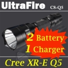 C8 CREE Q5 LED 5Mode Flashlight with Battery & Charger