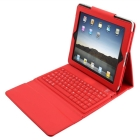 Silicone Bluetooth Wireless Keyboard for  with Leather Case