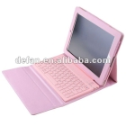 Faux Leather Case with Bluetooth Keyboard for   - Pink