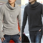 Free shipping 2011 new Men's fashion Gloves thickened turtleneck sweater t-shirt 616-6386 jacket coats