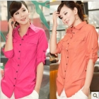 Free shipping women tops and blouses 2013 new fashion korean clothes stylish casual shirts 6-color women's blouse shirt 6128
