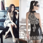 2013 New Free shipping Retro Totem sleeveless dress, bohemian skirts,women dress