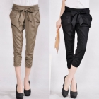 Free shipping high quality women's pants, casual pants,bow harem pants   3 colour