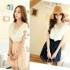 Free shipping women dress,ladies dress,pleated chiffon dress 2 colour