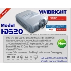 Fast delivery Vedio Potable LED projector Beamer With HDMI/TV Tuner/SD Car Slot /USB VIVIBRIGHT