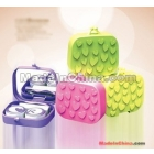 Contact Lens Case Set Contact Lens Box with Mirror Eyeglass Cases in different color
