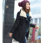 Free Shipping Fashion Autumn Women's Pocket Arym Green Sweatshirt Coat Outerwear