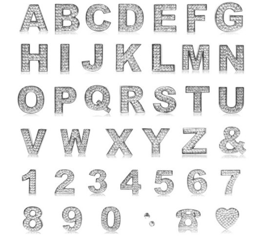 crystal letters top grade car auto 3D letters of ...