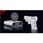 free shipping infrared gun alarm clock/gun shot clock electronic clock