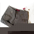 Summer female trousers wind restoring ancient ways Europe hot pants fashion flanging two wear short pants