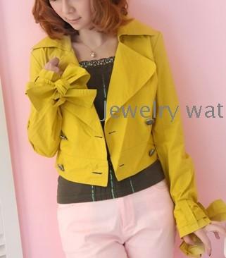 s yellow coat long sleeve short jacket – Wholesale New women's ...
